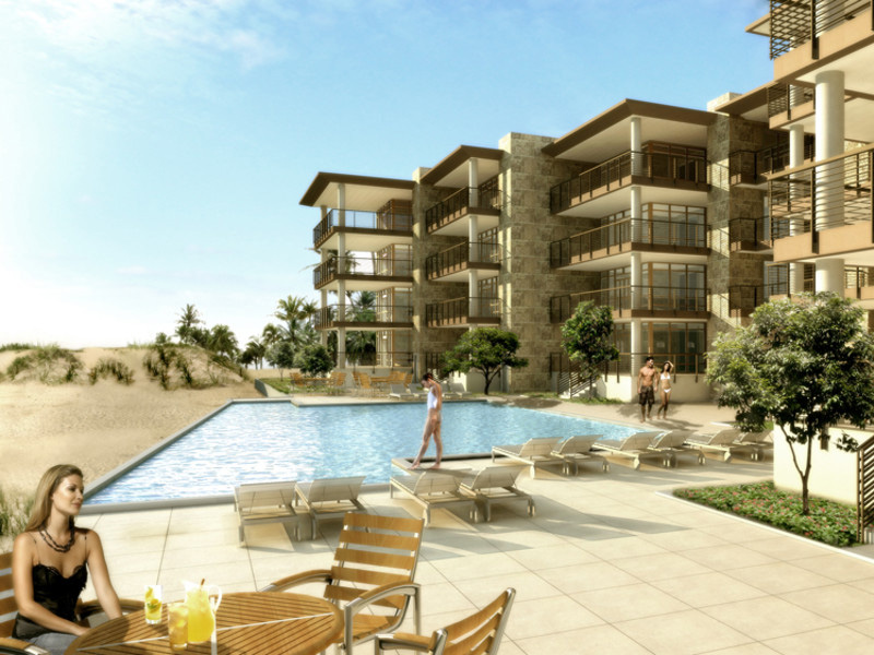 Wavecrest multifamily condominiums pool area rendering